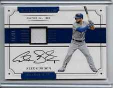 "Alex Gordon # 18/25 ""Material Ink"" Patch Auto 2017 National Treasures"