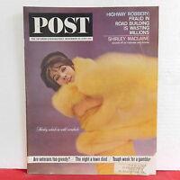Shirley MacLaine The Saturday Evening Post Magazine Veterans November 20 1963!
