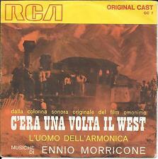 """45 TOURS / 7""""--BOF/OST C'ERA UNA VOLTA IL WEST--ENNIO MORRICONE-ITALIAN PRESS"""
