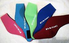 2 X CHILDREN'S SWIMMING EAR BANDS-Bright Pink,Aqua and Royal Blue, Green, Maroon
