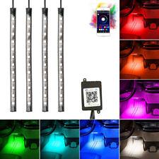 4x12 LED Striscia Luce Interni Auto RGB Multicolore Lampada Decorativa USB
