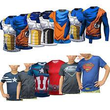 enfants DRAGON BALL Z Goku Marvel Superheros VEGETA court manches longues
