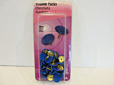 New The Hillman Group Blue Thumb Tacks 40-Pack, No. 122678
