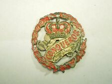 Vintage Conqueror Charles Williams Stores NY Bicycle Head Badge Emblem