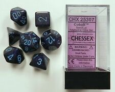 Polyhedral 7-Die Chessex Dice Set - Speckled Cobalt CHX 25307