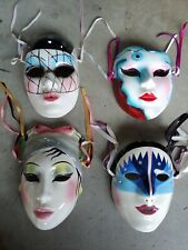 Decorative Ceramic Wall Masks (Set Of 4)