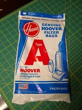 Genuine Hoover Vacuum Bags type A  For Top Fill Upright Vacuums 3 pk