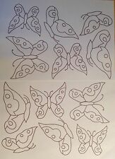 Butterflies iron on Embroidery transfers 4 x A4 sheets by Webster Punch Needle