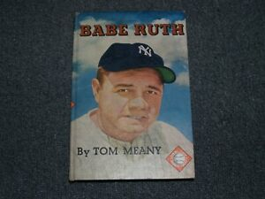 1951 Baseball Book *** BABE RUTH *** By Tom Meany New York Yankees