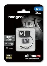 Integral 16 GB MICRO SDHC Clase 10 40MB/S INCLUYE USB LECTOR