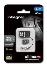 Integral 16GB microSDHC Class 10 40 MB/s inc USB Reader. INMSDH16G10-40NAUSBR