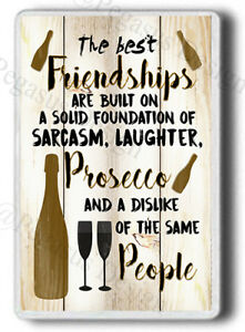 Friend, Friendship, Funny Friend Gift, Alcohol Novelty FRIDGE MAGNET! JUMBO SIZE