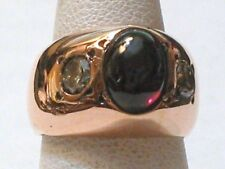 Antique .40cttw VS Diamond & Ruby 18k Yellow Gold Dome Band Ring 4.7g Size 3.5