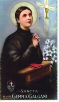 St. Gemma Galgani - Relic Laminated Holy Card - Blessed by Pope Francis