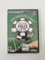 World Series of Poker (Sony PlayStation 2, 2005) PS2 GAME COMPLETE w/MANUAL CIB