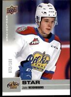 2019-20 UD CHL Exclusives Parallel #327 Jake Neighbours /100 Edmonton Oil Kings