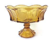 Vintage Depression Glass Amber American Eagle Fruit Bowl Server Centerpiece