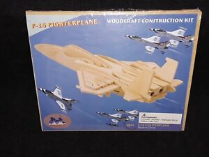 F15 Fighter Jet 3D Puzzle Woodcraft Construction Kit Home Schooling Art Project