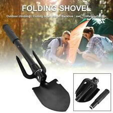 Folding Shovel Axe With Compass Carrying Pouch Multi Purpose Camping Hiking Tool