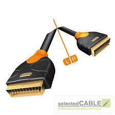 HICON Ergonomic Scartkabel 3m OFC gerade Stecker 21-pol RGB HQ | HIE-SCSC-0300