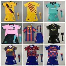20-21 Boys Football Club Full Kit Kids Youth Soccer Jersey Strip Training Suits