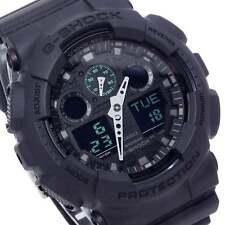 Casio Men's Analog Digital Black Military Watch GA100MB-1A