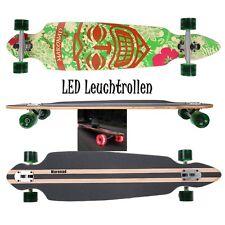 MARONAD ® Longboard Skateboard DROP THROUGH ABEC 11 LED Rollen Leuchtrollen ARUB