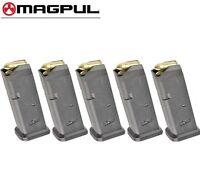 FIVE MAGPUL Fits GLOCK 17 9mm 10 Round MAGAZINES 801 BLK *FAST SHIP*!!