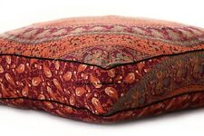Elephant Mandala Floor Pillow Cover Outdoor Square Indian Oversize Ottoman Bed