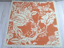 Pottery Barn Throw Pillow Cover Orange Paisley Floral 20x20 in.