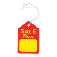 """Jewelry Price Tag for Jewelry Sale Price Tag Sigh Tags w/string ~100Pc~ 1 7/8""""H"""
