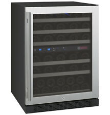 Allavino 56 Bottle Built-In Wine Cooler Refrigerator Stainless Steel Dual Zone