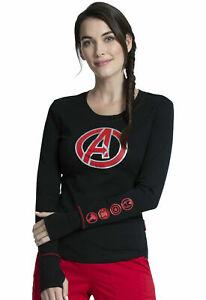 Avengers Cherokee Scrubs Tooniforms Marvel Underscrub Knit Tee TF718 MAGH