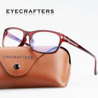 New Retro Full Rim Square  Glasses Women Men Fashion Eyewear Eyeglasses Frame 2