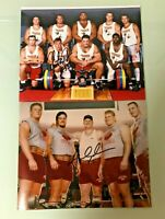NEBRASKA FOOTBALL CHRISTIAN PETER #55 & AARON GRAHAM #54 SIGNED PHOTO WEIGHTROOM