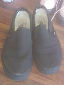 Vans Slip On Black Trainers - Size 6