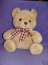 "GANZ BEAR WITH BOW VINTAGE 1996 CH1623 RARE 12"" SITTING"