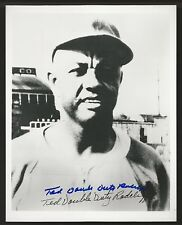 Ted Double Duty Radcliff Negro League Signed Auto 8x10 Photo Autograph