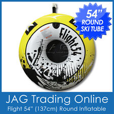 "FLIGHT 54"" (137cm) LARGE INFLATABLE SKI TUBE/BISCUIT-Round Single Person Towable"