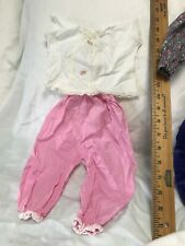 """Vintage 4 pc Baby Doll Clothes outfits overalls pants top 16"""" 17"""" 18"""""""