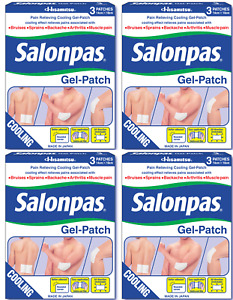 Salonpas - Gel-Patch - Pain Relief for Sprains, Aches & Muscle - 4 PACK