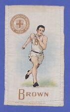 c1910s S22 tobacco silk / felt Brown University Runner / Track