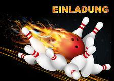 8 einladungskarten kindergeburtstag bowling kinderkarten, Einladung