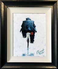 ALEXANDER MILLAR ORIGINAL OIL PAINTING GADGIE ON A BIKE 'NOT A LTD EDITION PRINT