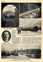 Die Eröffnung der Karwedelbahn München-Innsbruck Vorberg-Viadukt c.1912