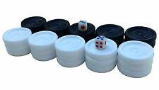 Backgammon Chips 30 Plastic Checkers - 3.2cm