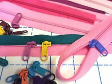 PINK Zippers for Sweet Pea Pods & Bags: 6 yds. & 40 Candy Colored Long Pulls