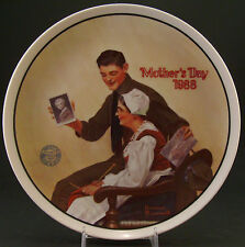 """Norman Rockwell Mothers Day 1988 Collector Plate """"My Mother"""" – Plate #8086D"""