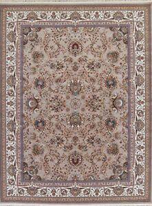 Floral Brown Turkish Oriental Wool Acrylic Plush Soft 1000 Reeds Area Rug 10x13