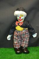 ANCIENNE POUPEE CLOWN AUTOMATE EN PORCELAINE REMONTOIR A CLE